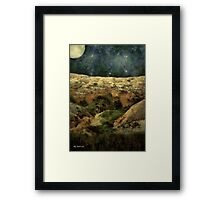 Beautiful Night in the Badlands Framed Print
