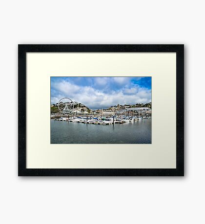 Torquay Harbour Framed Print