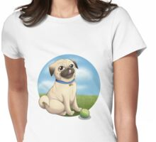 Pug Playtime Womens Fitted T-Shirt