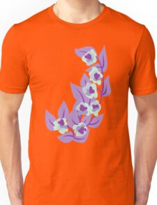 Purple Floral and Leaves Print T-Shirt