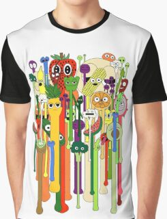 melting faces fruits and veggies Graphic T-Shirt