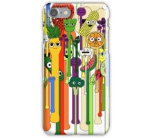 melting faces fruits and veggies iPhone Case/Skin