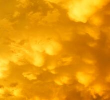 Stunning mammatus cloud display Sticker