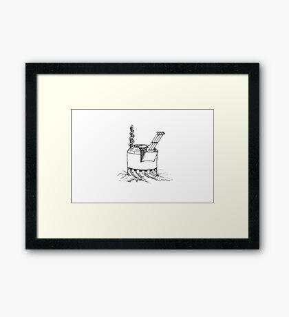 AA Turret Pod Framed Print