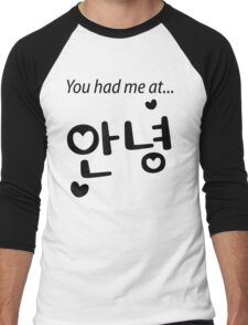 You had me at annyeong! Men's Baseball ¾ T-Shirt