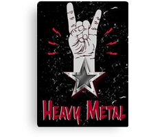 Heavy Metal Design T-shirt thunder slayer megadeth pantera Canvas Print