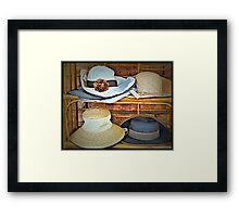 Hats For Sale Framed Print