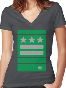 DC Represent (green) Women's Fitted V-Neck T-Shirt