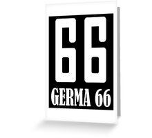 Germa 66 Greeting Card
