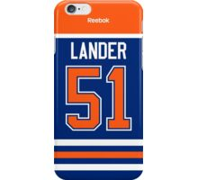 Edmonton Oilers Anton Lander Jersey Back Phone Case iPhone Case/Skin