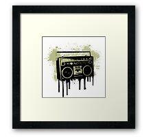 Portable Stereo Splatter Framed Print