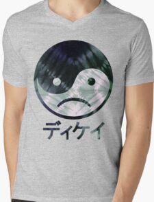 Yin Yang Face III Mens V-Neck T-Shirt