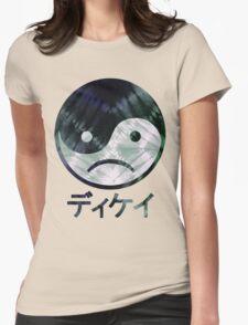 Yin Yang Face III Womens Fitted T-Shirt