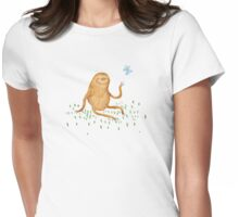 Sloth & Butterfly Womens Fitted T-Shirt