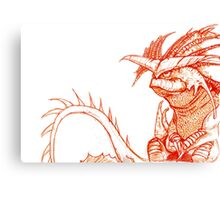 Hiccup's Mom's Dragon.  Canvas Print