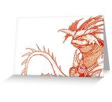 Hiccup's Mom's Dragon.  Greeting Card