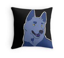 Dramatic German Shepherd in Blue Throw Pillow