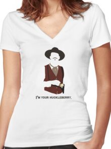 Tombstone: That's Just My Game Women's Fitted V-Neck T-Shirt