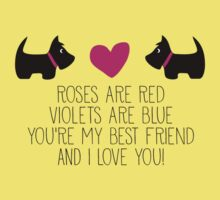 Roses are red . . . I love you! Baby Tee
