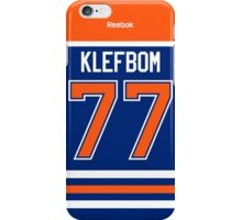 Edmonton Oilers Oscar Klefbom Jersey Back Phone Case iPhone Case/Skin
