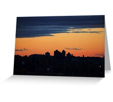 NYC Sunset Greeting Card