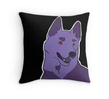 Dramatic German Shepherd in Violet Throw Pillow