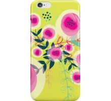 illustrated organic flowers iPhone Case/Skin
