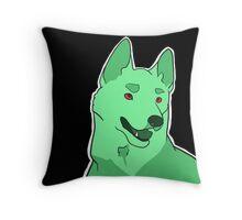Dramatic German Shepherd in Mint Throw Pillow