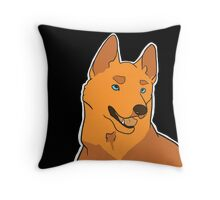 Dramatic German Shepherd in Pumpkin Throw Pillow