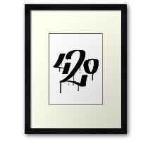420 Framed Print