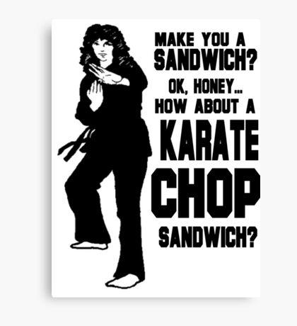 Karate Chop Sandwich Canvas Print