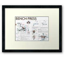 Barbell Bench Press Exercise Diagram Framed Print
