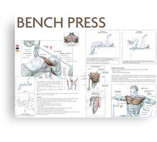Barbell Bench Press Exercise Diagram Canvas Print