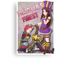 Piltover's Finest - Vi and Caitlyn League of Legends Canvas Print