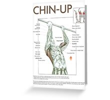Chin-Up Exercise Diagram Greeting Card