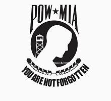POW MIA Black Text Unisex T-Shirt