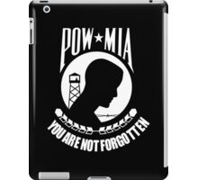 POW MIA WhiteText iPad Case/Skin