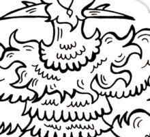 Black Pen Party Bird Sticker