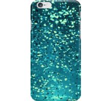Aqua Blue Water Sparkles iPhone Case/Skin