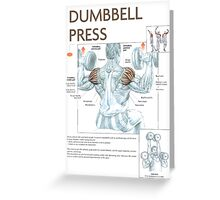 Dumbbell Overhead Press Exercise Diagram Greeting Card
