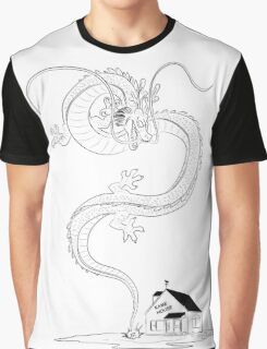 Shenlong rising from Kame House (day) Graphic T-Shirt