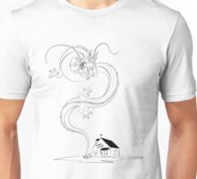 Shenlong rising from Kame House (day) Unisex T-Shirt