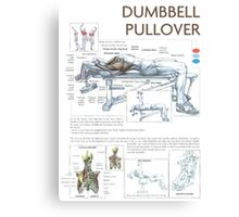 Dumbbell Pullover Exercise Anatomy Canvas Print