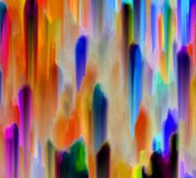 Colorful digital art splashing Sticker