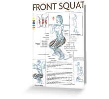 Front Squat Exercise Anatomy Greeting Card