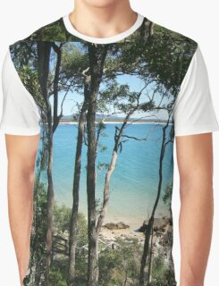 Litte cove through the trees, Noosa NP Graphic T-Shirt
