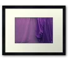 Two Sheets Abstract Purple & Fuscia Framed Print