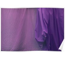 Two Sheets Abstract Purple & Fuscia Poster
