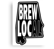 Brew Local Black print Canvas Print