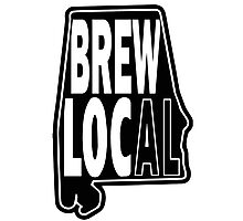 Brew Local Black print Photographic Print